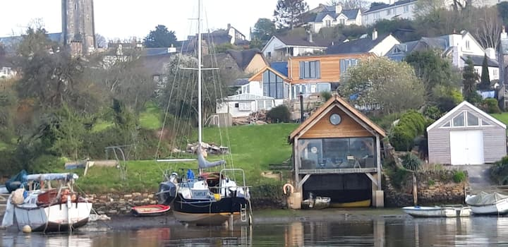 The Boathouse,Dittisham Mill Creek. River Dart