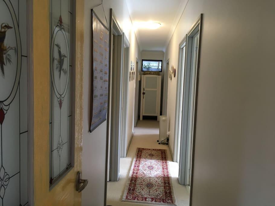 guest rooms off hallway