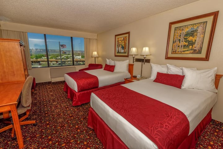 Fashioned Room Two Double Beds At North Grand Junction