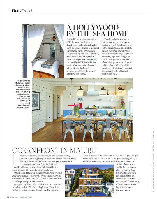 Voted TOP 4 Places to stay by 805 Living Magazine!  :)
