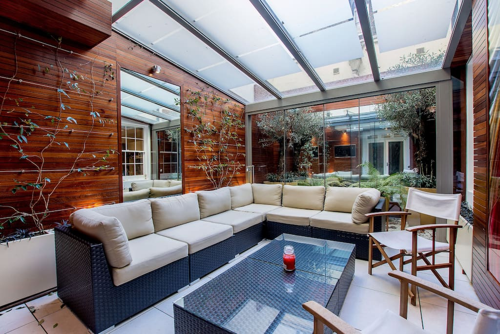 Private Courtyard with furniture