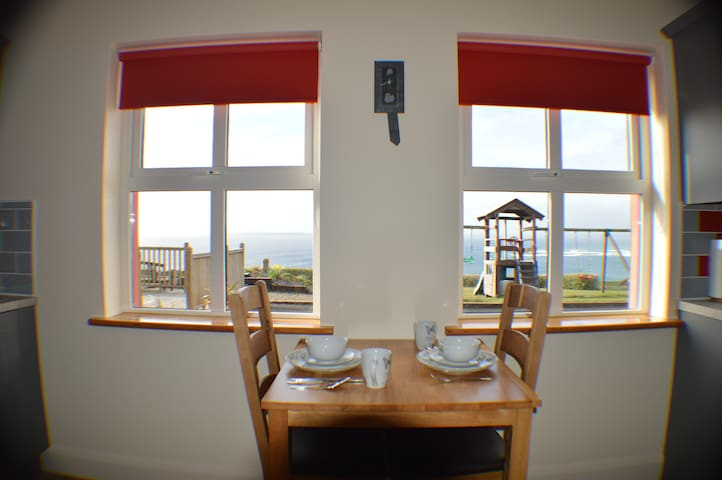 Stunning Sea Views from Dining Table
