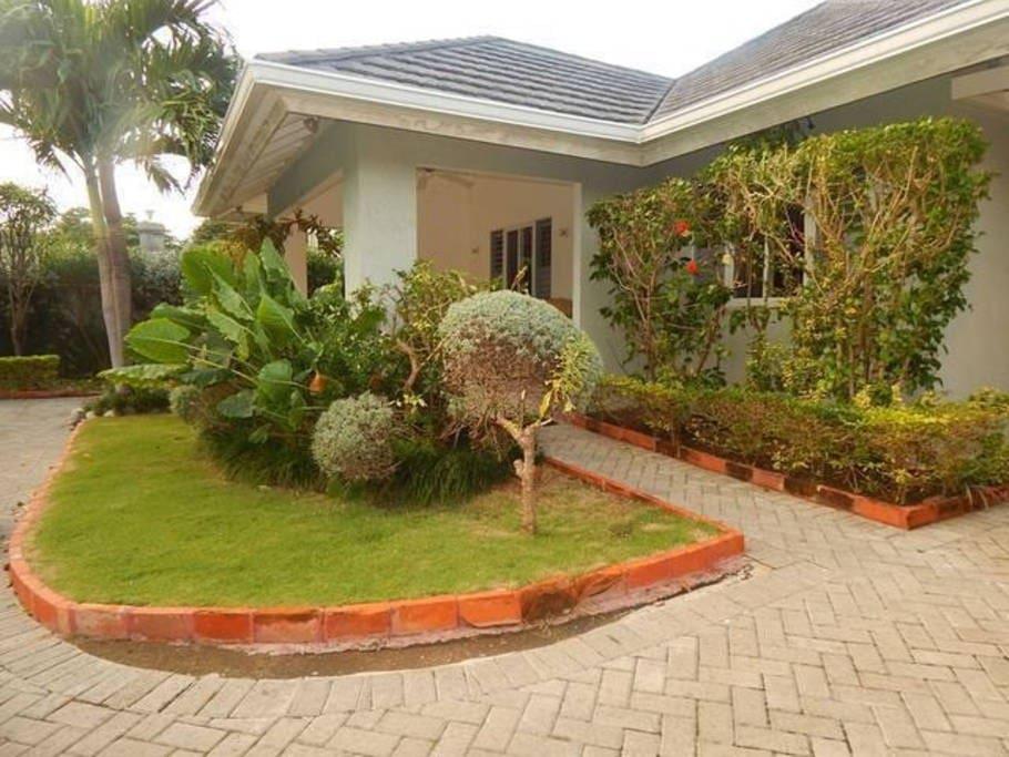 The Villa, beautifully landscaped