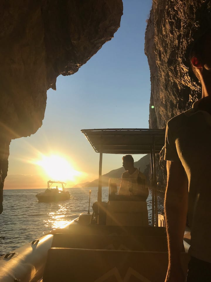 Ever seen the sunset from a sea grotto?