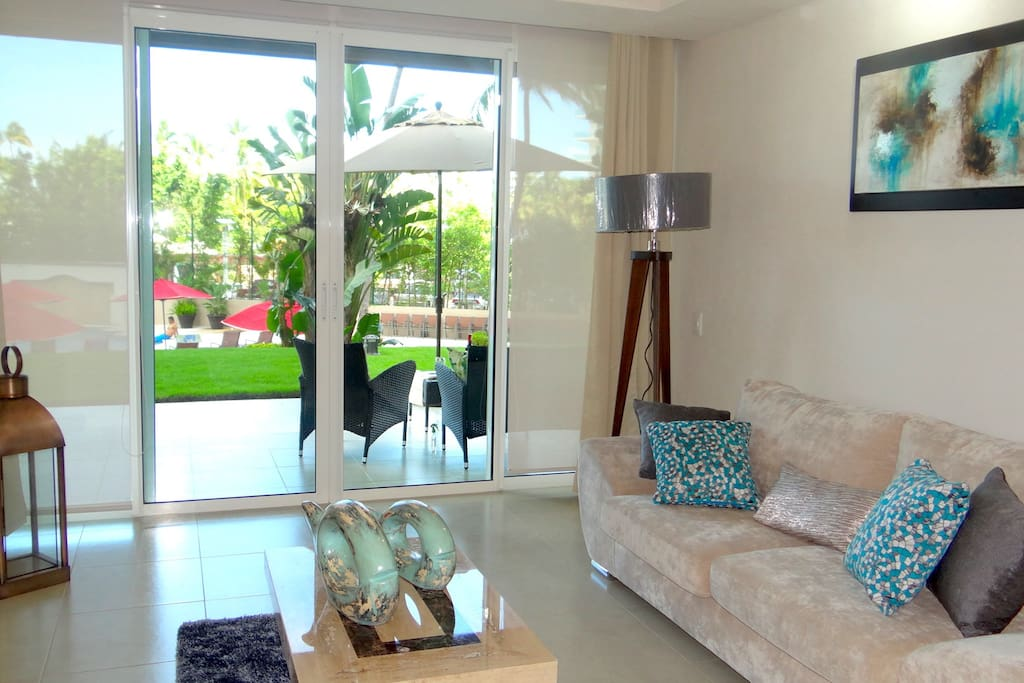 Enjoy open space with sliding doors, plus interior screen and blackouts