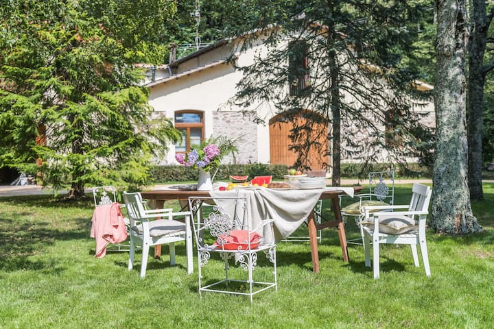 Large apt for 8-10 in front of Castle and Montseny