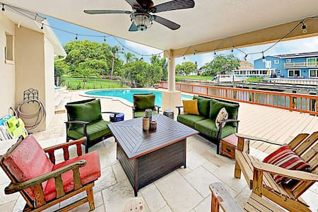 Large Upscale Canal Home w/ Private Pool & Dock