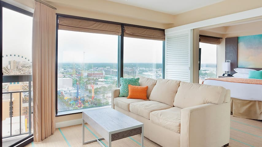 Sleek Seaglass Beachfront Suite