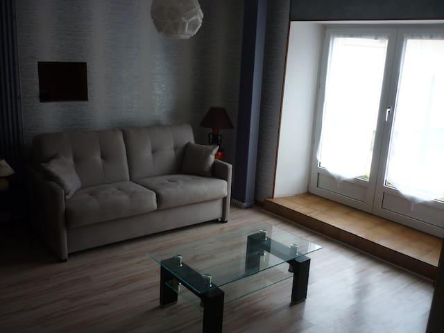 un vrai canapé convertible confortable comme un vrai lit 140x190  qui offre la possibilité de séjourner à 2 couples dans ce logement