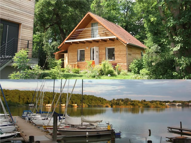 Cottage with canoe and bicycles at the Hainer Lake - Neukieritzsch - Huis