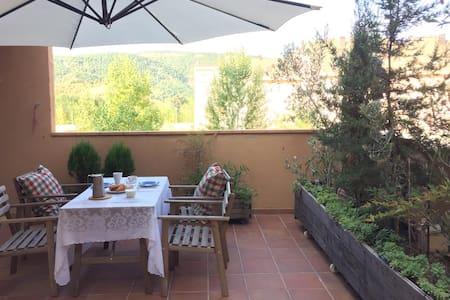 Apto. con terraza/jardín de 40m2 en Ainsa Pirineos