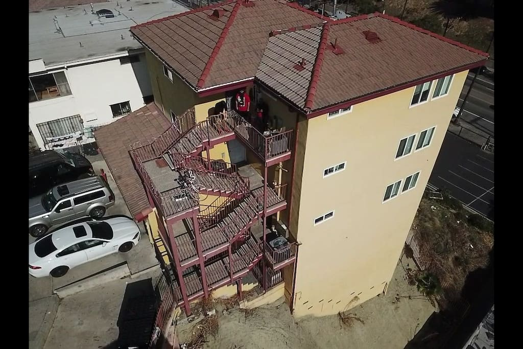 om the top floor