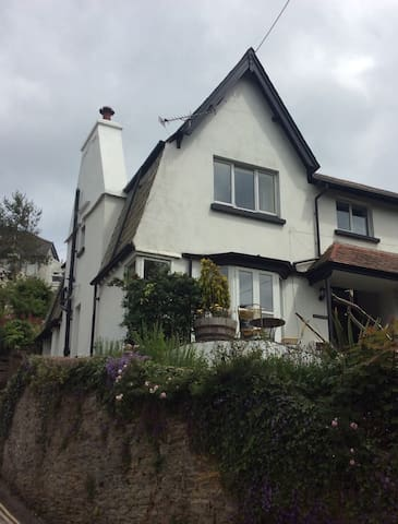 Double Bed, parking, river view. - Looe - House