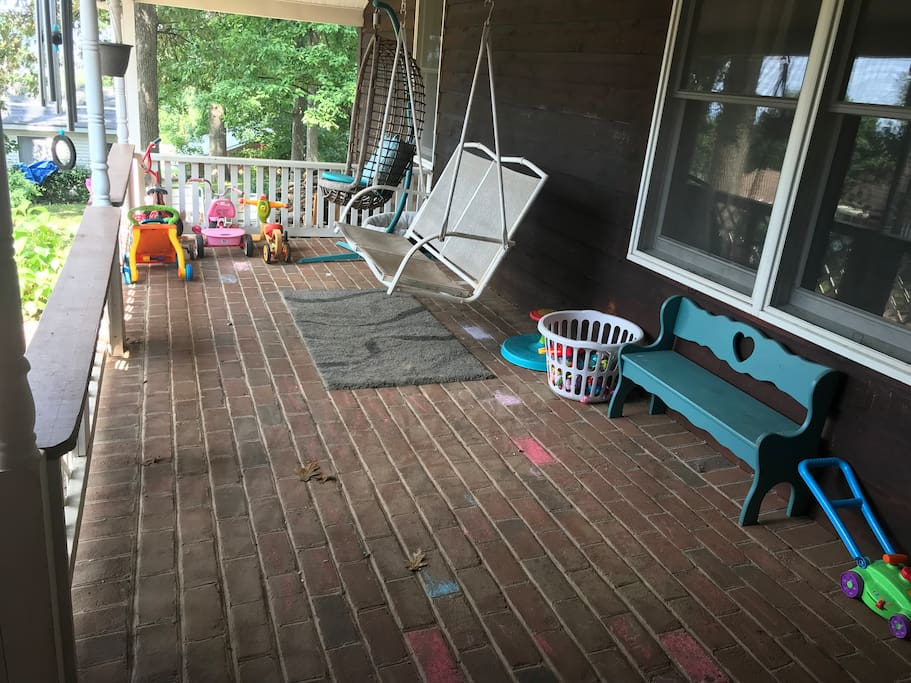 Enjoy a nice cup of coffee or a beautiful York sunset on the porch swing.
