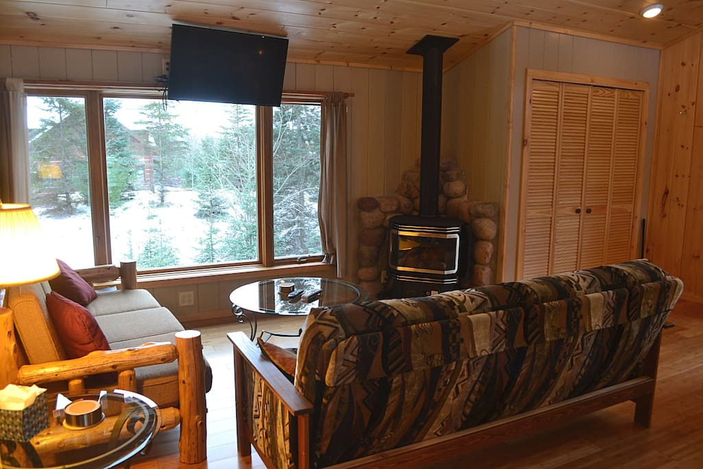 Living Room with Gas Stove
