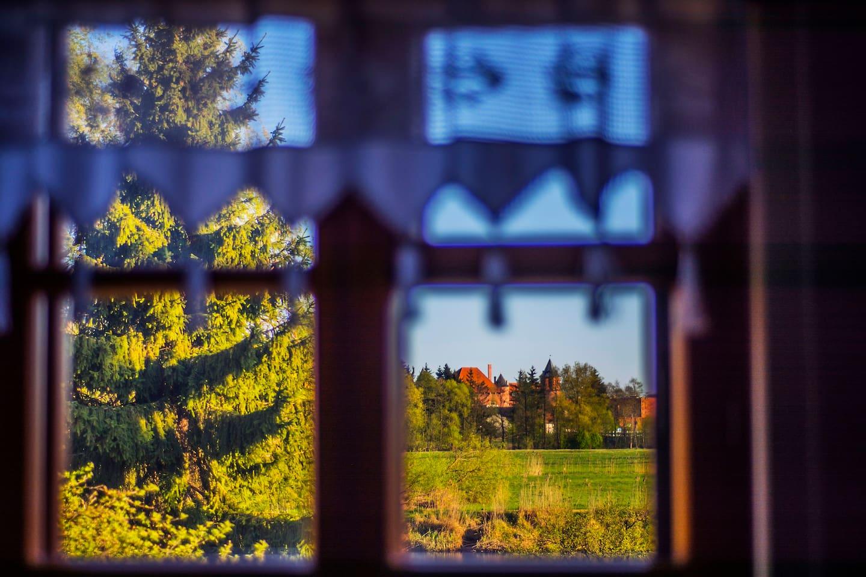 Widok z okna na Zamek w Tykocinie
