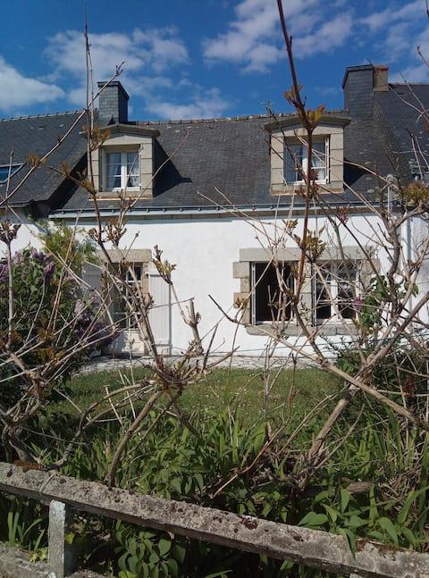 Ty Gwenn, Maison de pêcheur, presqu'île de Penerf