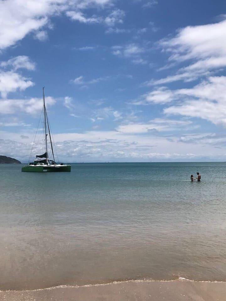 Casinha charmosa a 90 mts da praia de Manguinhos