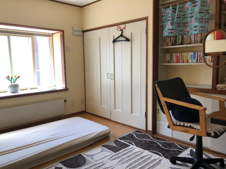 B: Private single room!! Relaxing comfort space