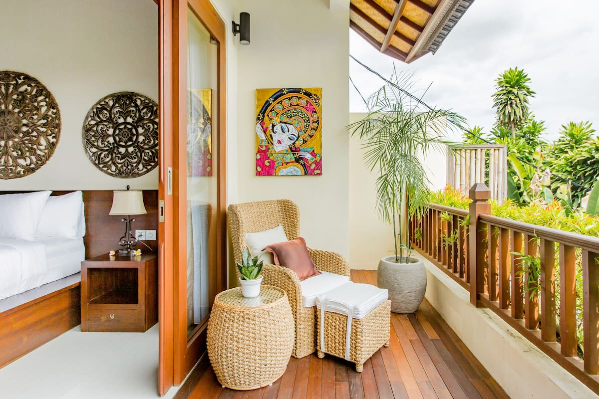 Luxuriate in the Jacuzzi on the Balcony of a Villa in Sanur