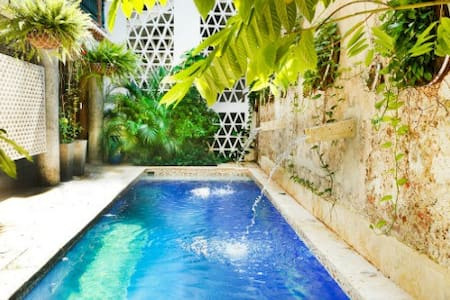 Double Room with Pool in Hip Barrio - Cartagena
