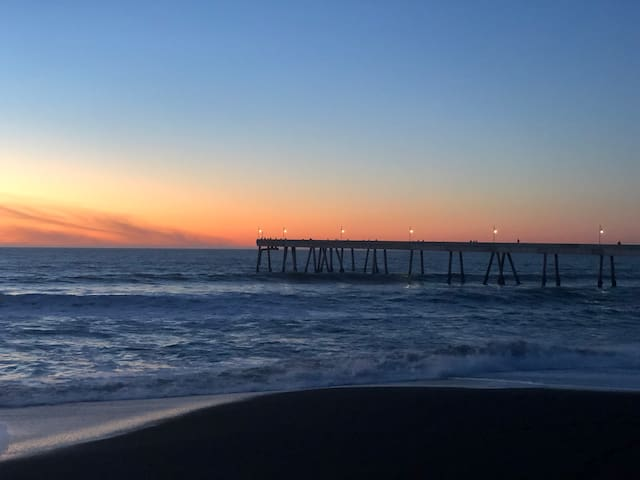 Infuse yourself with Vitamin Sea. Sunset over Pacifica Pier - 7 minute walk.