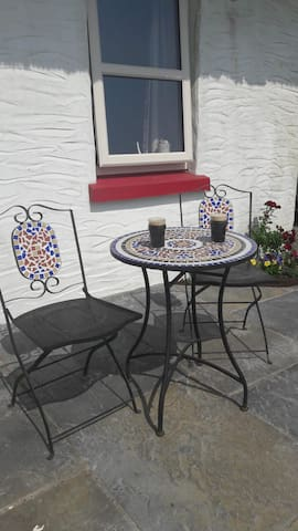 Enjoy a Guinness on the terrace