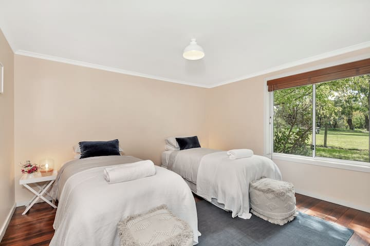 Twin Room (long singles) can be converted into full king bed