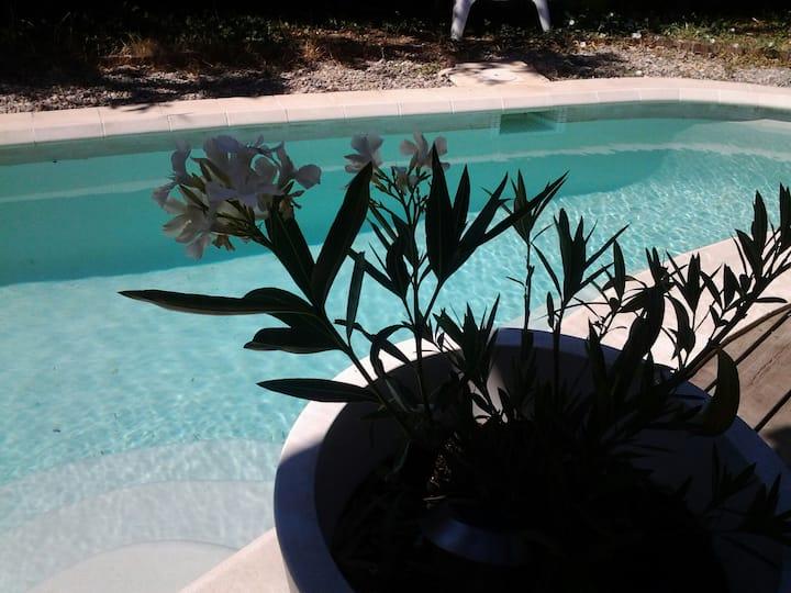 Maison bois  piscine originale Aix en Provence