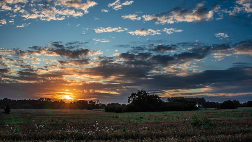 Sunrise over Bretagne ( La Combe  ) taken by Sylvie Gauthier  , our Guest .