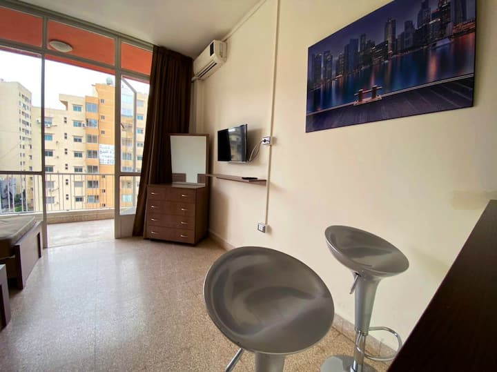The studio is fully furnished located in zalka