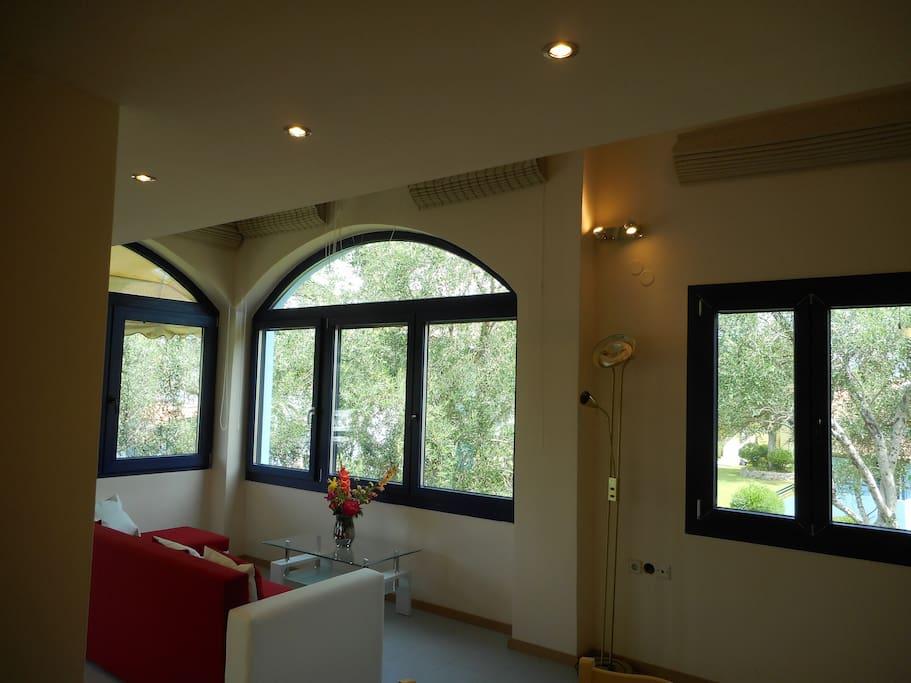 Villa Poulades sea - Govino Bay | Livingroom
