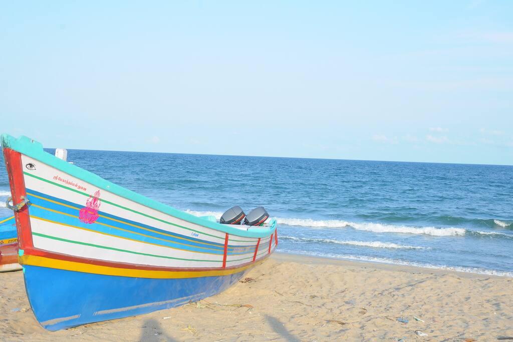 Beach 80m walk