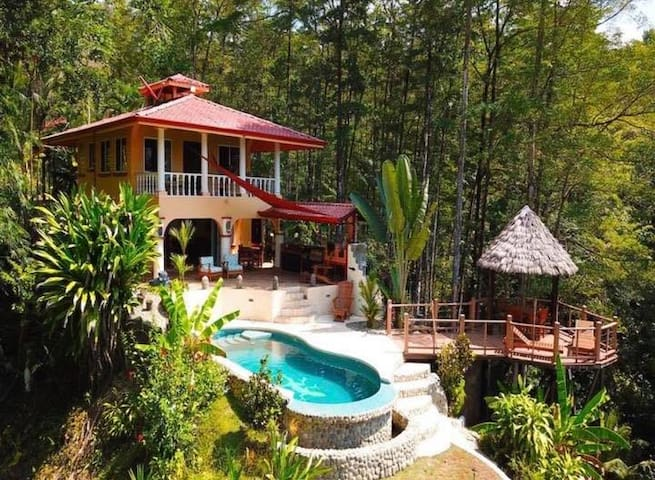 Casa Amistad Ocean View home with tropical forest