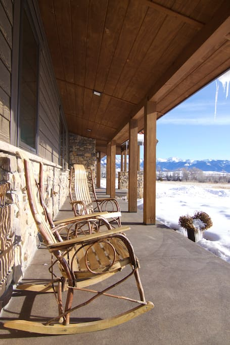 Comfortable seating to enjoy nature and the amazing views
