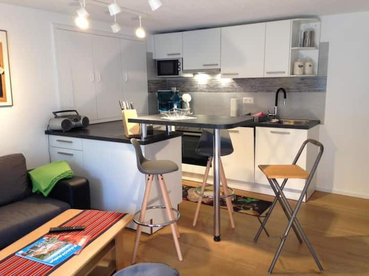 """Beautiful Apartment """"Ferienhaus Mathilde Wohnung Unten"""" in Rural Area near Lake Constance with Wi-Fi, Terrace & Garden; Parking Available"""