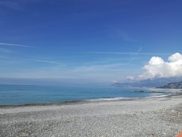 Ampio alloggio, vista sul Roya a un passo dal mare