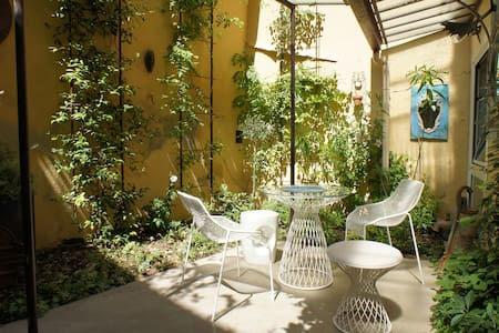 The garden courtyard - Historic center Aix-en-Pce