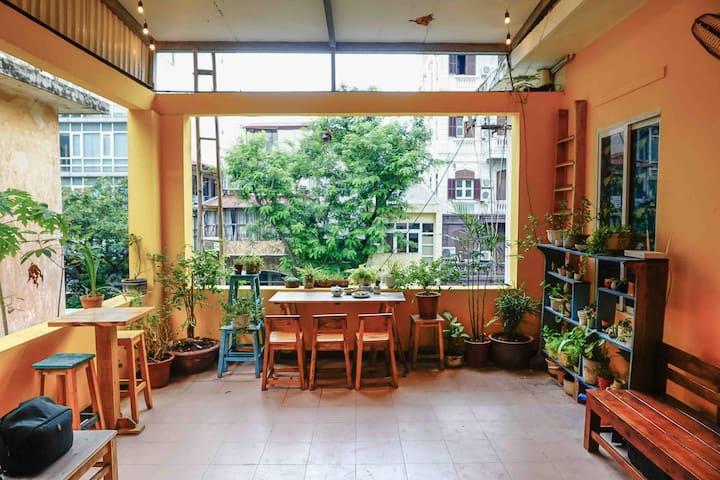 Indie loft w A little garden > near Old Quarter