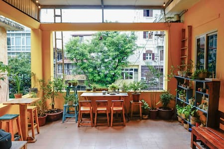 Indie loft w A little garden > near Old Quarter