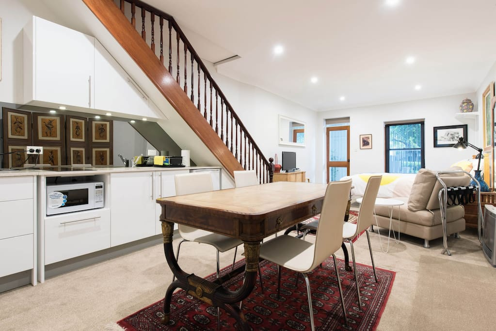 Comfortable kitchen and living space