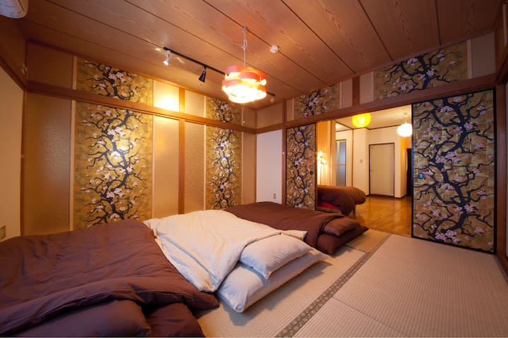 1.Kinkakuji 10min WALK!110㎡ house! 8ppl OK! Wi-Fi!