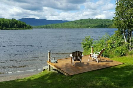Lakefront Cottage w/ private beach - Rangeley