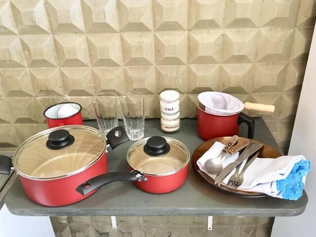 Suite 100% independente com cozinha