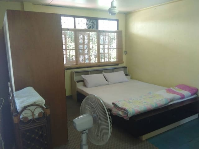 King size bed with air-conditioned.