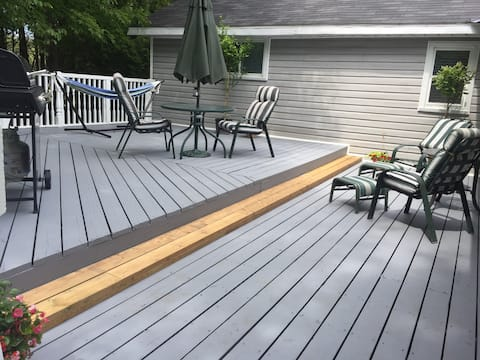 My Little Acre Back Deck