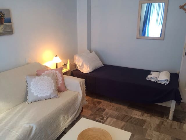 This room can be used as living room, as well as a second bedroom.