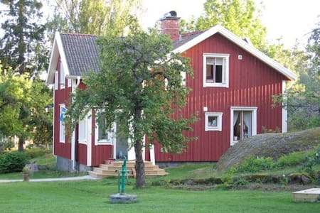 Typical picturesque Swedish cottage