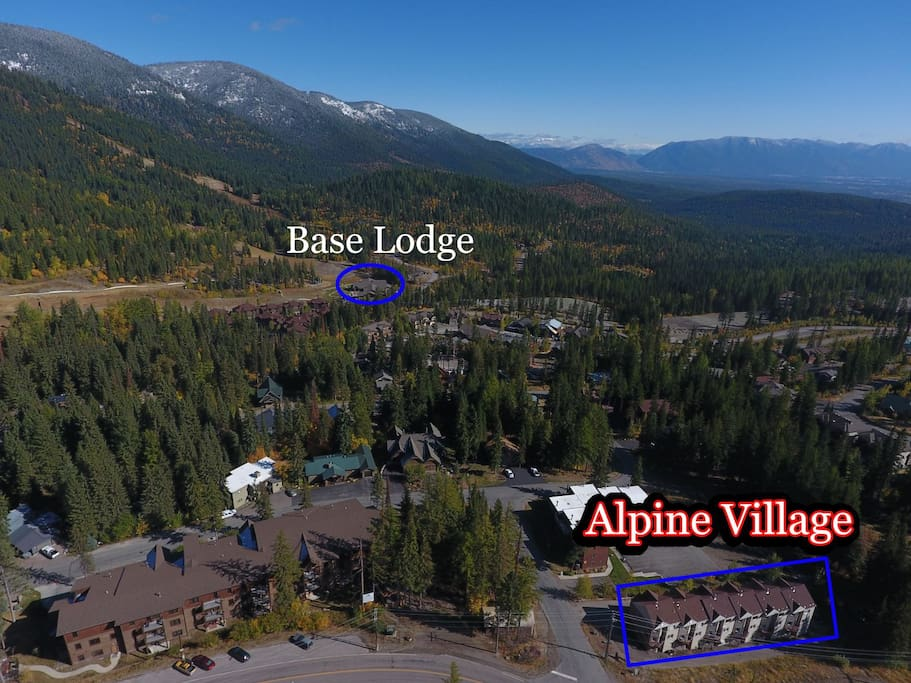Alpine Village Aerial View Fall 2017
