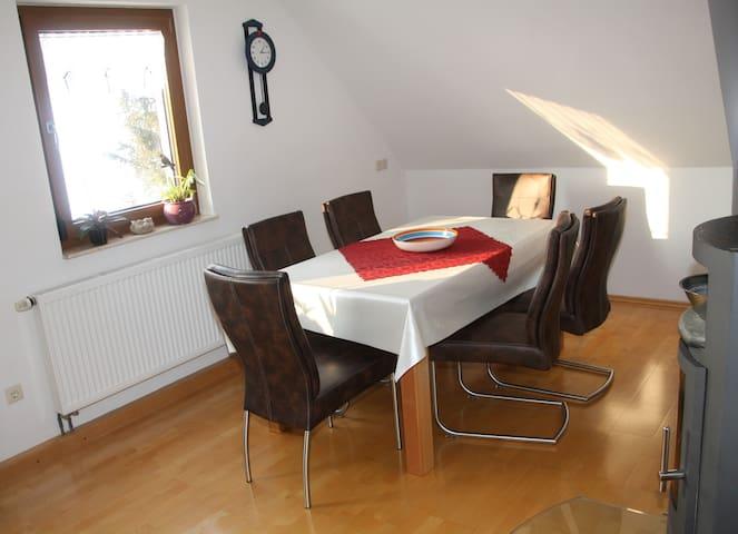 Ruhige Ferienwohnung bei Rothenburg am Radweg - Gebsattel - Apartemen